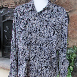Snakeskin Print  Blouse Top by Dana Buchman SZ XL